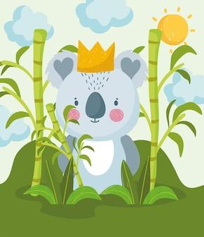 Süßer koala im dschungel