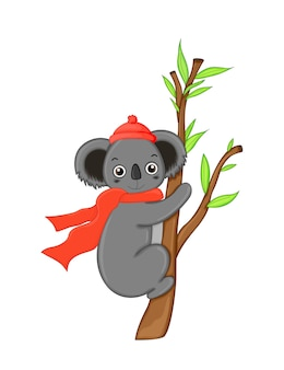 Süßer koala. karikaturillustration.