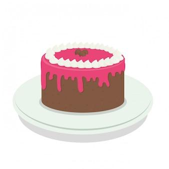Süßer kuchen clipart-bild