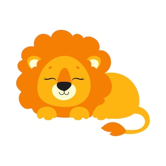 Süßer löwe wildes tier