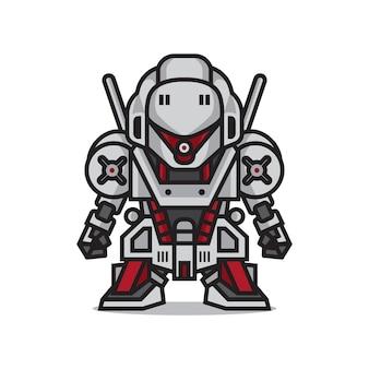 Süßer mecha-roboter