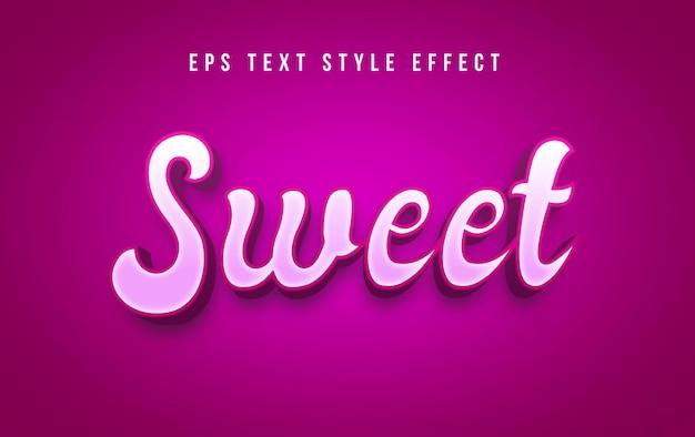 Süßer nachtisch bearbeitbarer textstileffekt