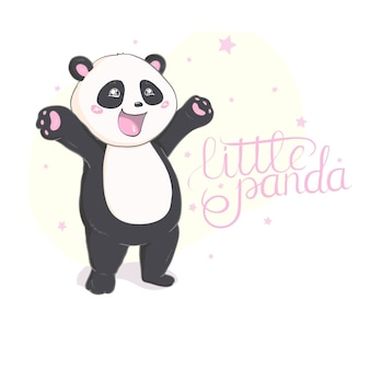 Süßer panda vektor