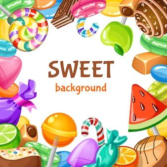 Süßer süßigkeitenhintergrund