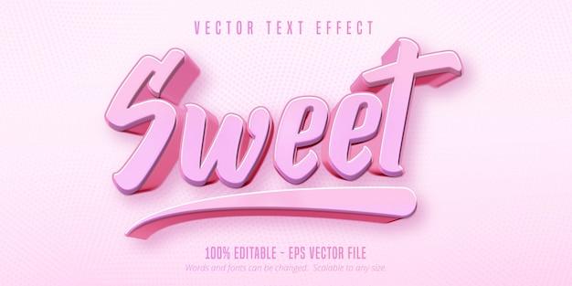 Süßer text, bearbeitbarer texteffekt im spielstil