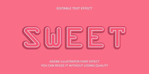 Süßer text-guss-effekt
