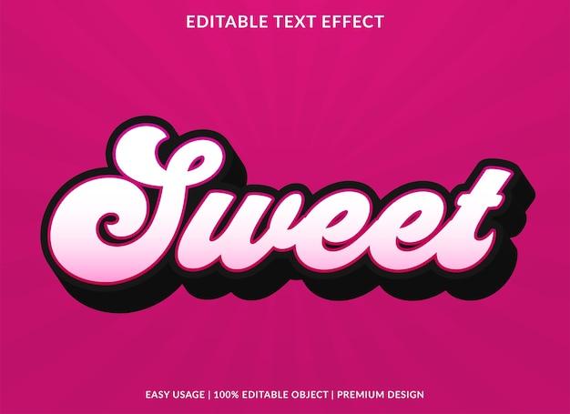 Süßer texteffektschablonen-premiumstil