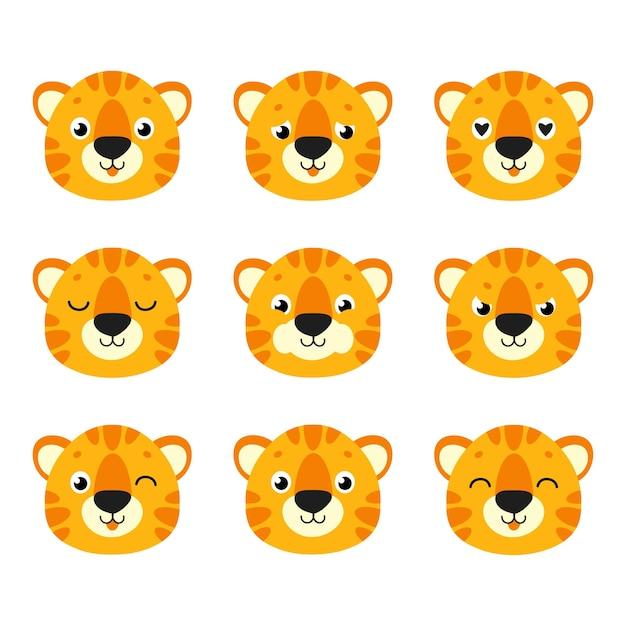 Süßer tiger wildtier