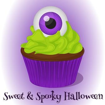 Süßer und gespenstischer cupcake