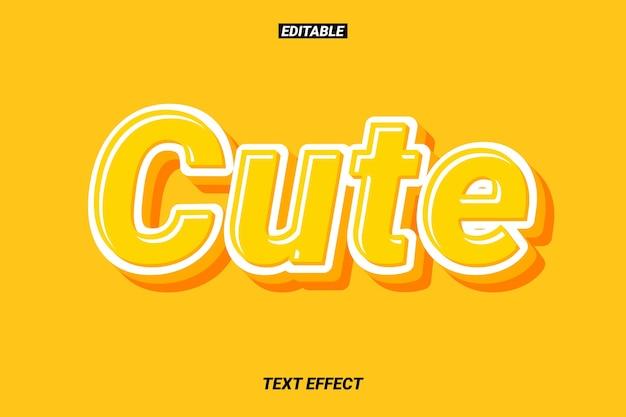 Süßer und weicher texteffekt