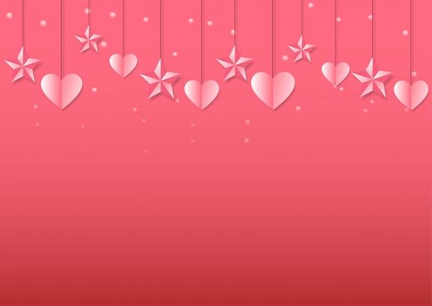 Süßer valentinstag hintergrund