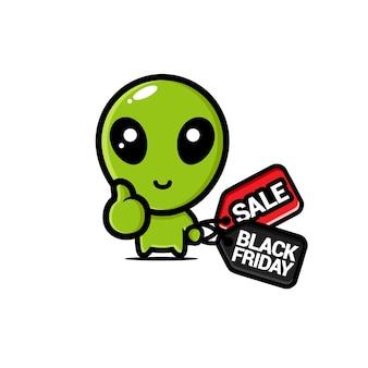 Süßes alien mit schwarzem freitag rabatt