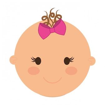 Süßes baby-gesicht-symbol