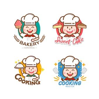 Süßes bäckerei- und brotetikettendesign für süßwarenladen
