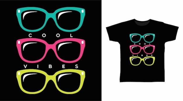 Süßes brillen-t-shirt-design