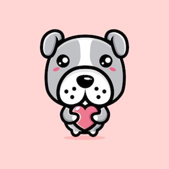 Süßes bulldog-charakterdesign