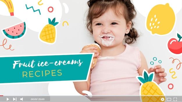 Süßes buntes essen youtube thumbnail