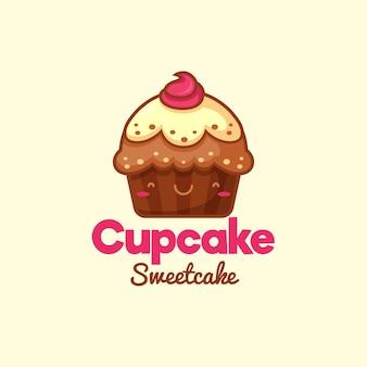 Süßes cupcake-logo