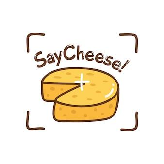Süßes design mit käse