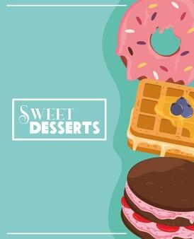 Süßes dessert essen
