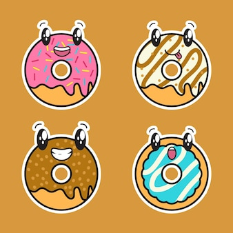Süßes donut kawaii set bundle
