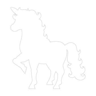 Süßes einhorn zauberfeenpferd malvorlage für kinder trace
