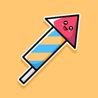Süßes feuerwerk-cartoon-design