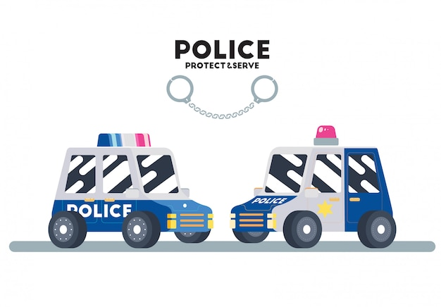 Süßes flaches polizeiauto