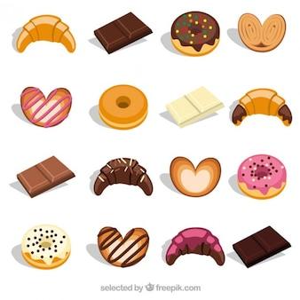 Süßes frühstück lebensmittel