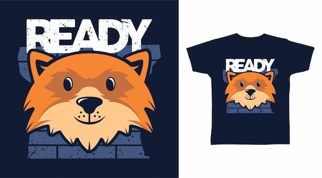 Süßes, fuchsfertiges t-shirt-design