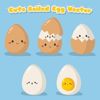 Süßes gekochtes ei gesetzt