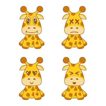 Süßes giraffenset