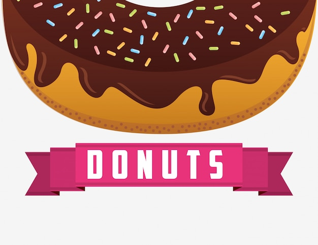 Süßes halbes donutetikett