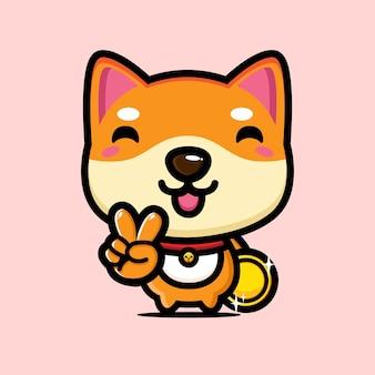 Süßes hunde-charakter-design