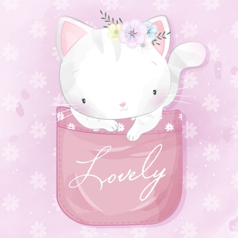 Süßes kätzchen in der tasche