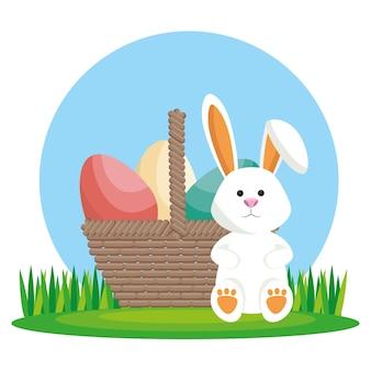 Süßes kaninchen frohe ostern
