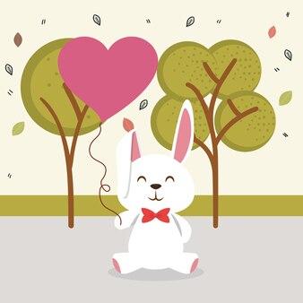 Süßes kaninchen tiercharakter