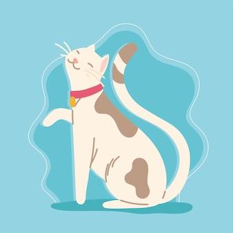 Süßes katzenhaustier