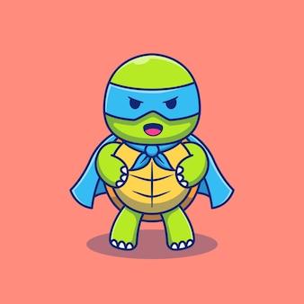 Süßes kleines schildkröten-illustrationsdesign