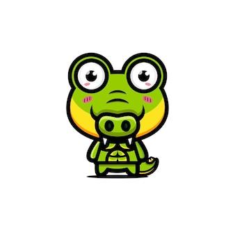 Süßes krokodil stark und muskulös
