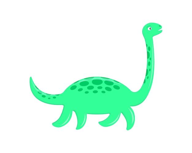 Süßes loch ness monster plesiosaurier nessie im cartoon-stil