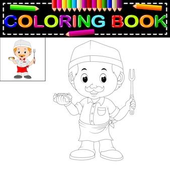 Süßes lustiges chef malbuch