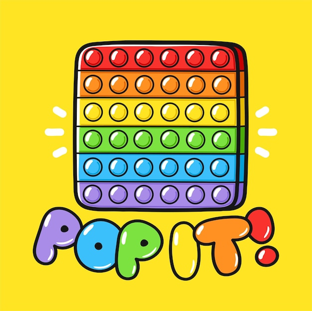 Süßes lustiges pop it zappeln sinnesspielzeug