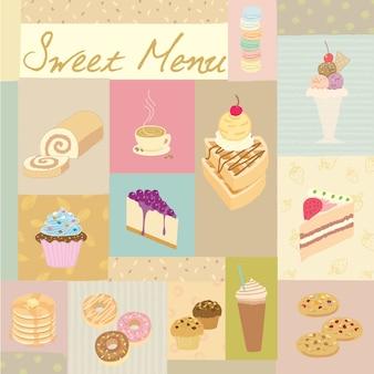 Süßes menü pastell
