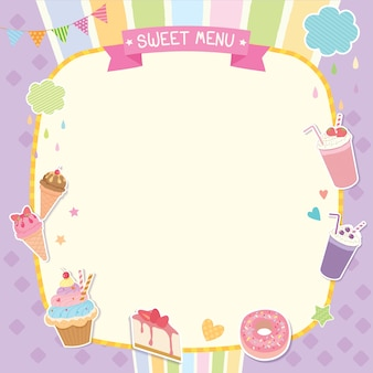 Süßes menü süße vorlage