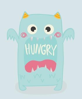 Süßes monster kind. t-shirt, karte. vektor-illustration