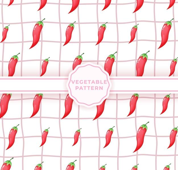 Süßes nahtloses chili-muster. nettes gemüsemuster