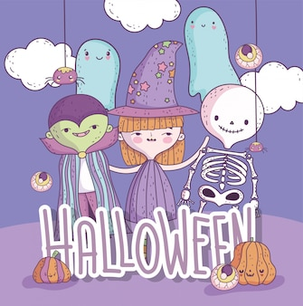 Süßes oder saures frohes halloween