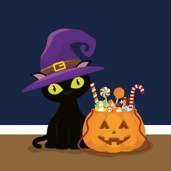 Süßes oder saures, frohes halloween