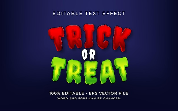 Süßes oder saures halloween-texteffekt-stil editierbarer texteffekt